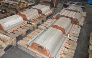 Nickel épais sur lingotières de coulée continue pour produits longs