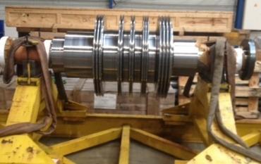 Traitement par projection HVOF en première monte d'un Rotor destiné à une Centrale Nucléaire.JPG